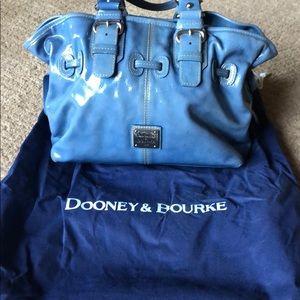 Dooney & Bourke leather blue satchel